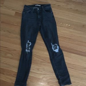 Grey/black jeans from Levi's